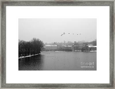 View Of The Mills Framed Print