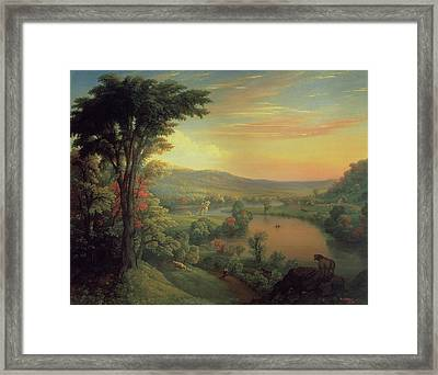 View Of The Mohawk Near Little Falls Framed Print