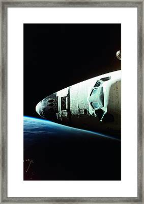 View Of The Nose Of Space Shuttle Framed Print by Stockbyte