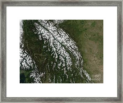 View Of The Rocky Mountains Framed Print by Stocktrek Images