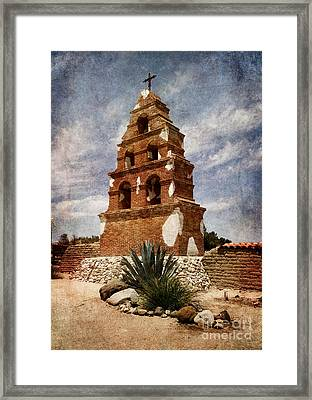 View Of The San Miguel Bell Tower Framed Print