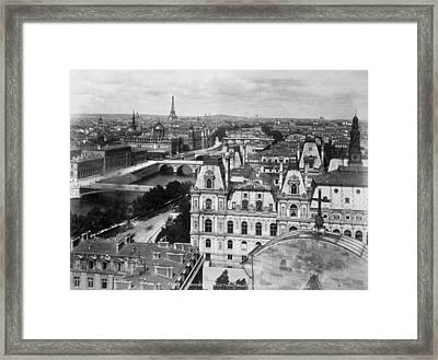 View Of The Seine, Including Pont Neuf Framed Print by Everett
