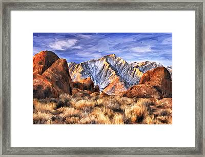 View Of The Sierras Framed Print by Dominic Piperata