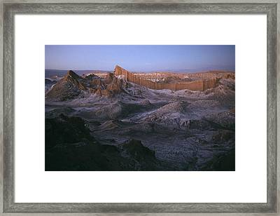 View Of The Valley Of The Moon Framed Print by Joel Sartore