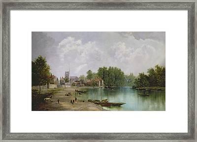 View Of Twickenham Framed Print by W Howard