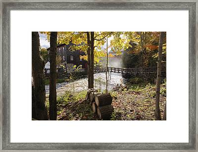 View Of Ulverton Wool Mill, Eastern Framed Print by Yves Marcoux