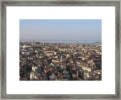 View Of Venice Framed Print by Bernard Jaubert