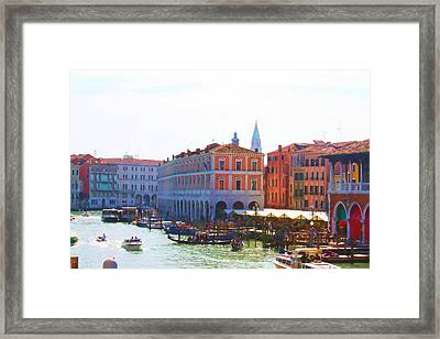 View Of Venice's Market Framed Print by Christiane Kingsley