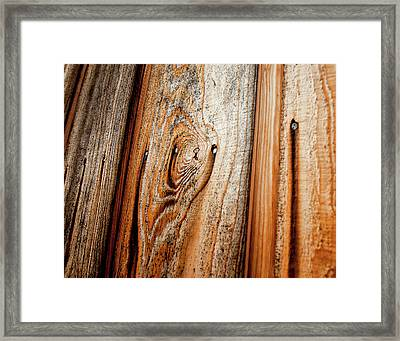 View Of Wooden  Ply Framed Print by Veronique Regimbal photographie