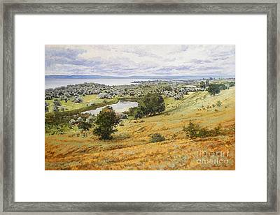 View On The Volga Framed Print by Andrey Soldatenko