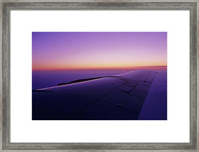 View Out The Window Of A Boeing 707 Framed Print by Kenneth Garrett