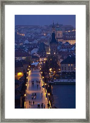 View Over The Charles Bridge Towards Framed Print by Axiom Photographic