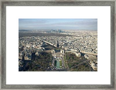View Over Trocadero From Eiffel Tower. Paris Framed Print by Nico De Pasquale Photography