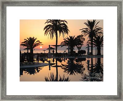 View To Kephalonia Island Framed Print by Roswitha Schmuecker