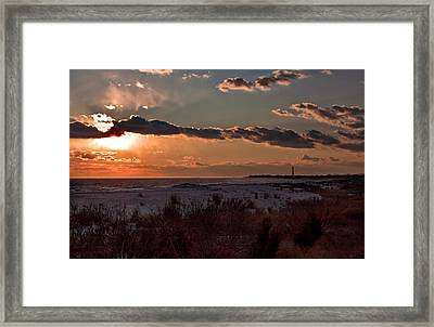 View To The Lighthouse Framed Print