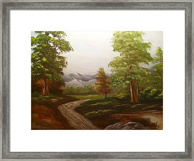 View To The Mountains Framed Print by Marie Dulny