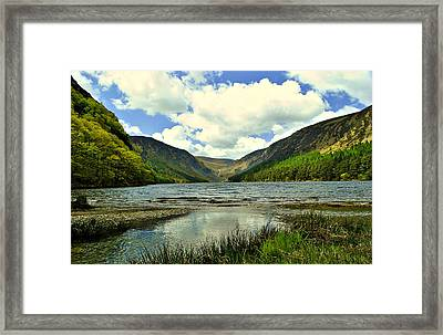 View With A V Framed Print