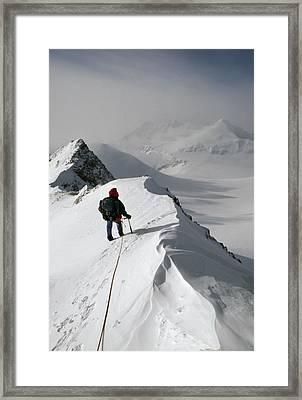 Viewing Mt.shinn From The Vinson Framed Print by Gordon Wiltsie