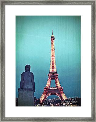 Viewing The Eiffel Tower Framed Print