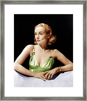 Vigil In The Night, Carole Lombard, 1940 Framed Print by Everett