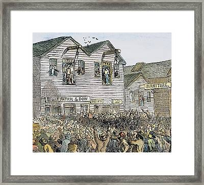 Vigilante Lynching, 1851 Framed Print
