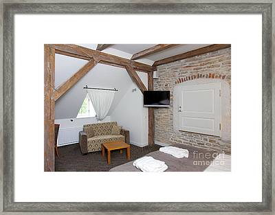 Vihula Manor Hotel Bedroom Interior Framed Print by Jaak Nilson