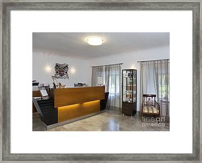 Vihula Manor Hotel Reception Desk Framed Print
