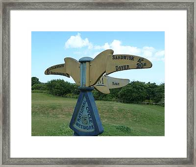Framed Print featuring the photograph Viking Coastal Trail From Sandwich To Reculver by Steve Taylor
