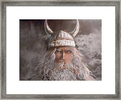 Viking God Framed Print by James Guentner