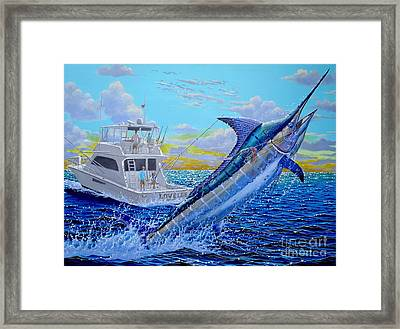 Viking Marlin Framed Print by Carey Chen