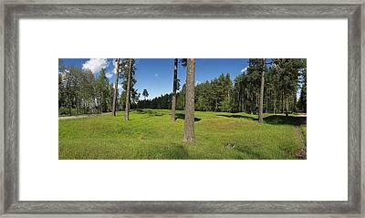 Viking Mound Field Framed Print by Jan W Faul