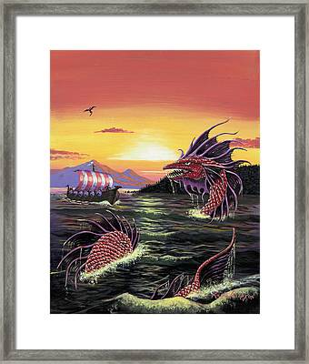 Viking Quest Framed Print