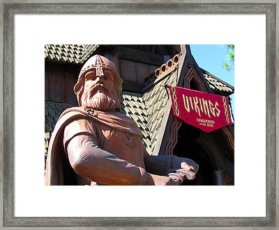 Vikings Conquerors Of The Sea Framed Print