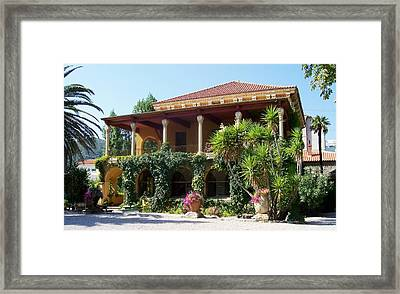 Villa Lafabreque Prades France Framed Print by Marilyn Dunlap