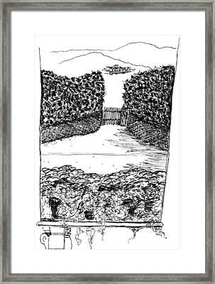Villa Torrigiani Framed Print by Elizabeth Thorstenson