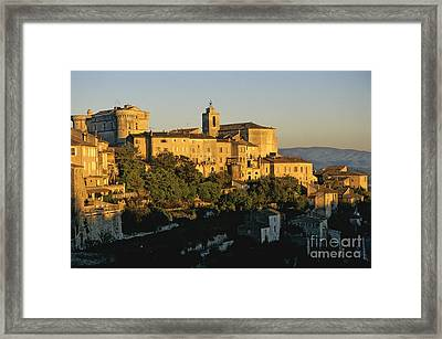 Village De Gordes. Vaucluse. France. Europe Framed Print by Bernard Jaubert