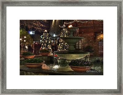 Village Fountain Framed Print by Jason Abston