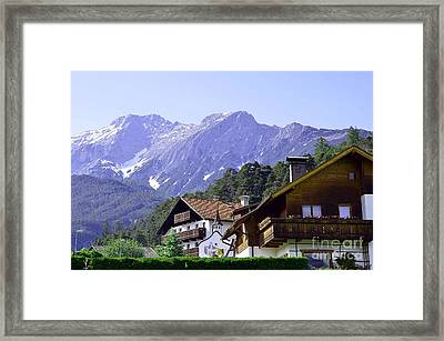 Village In Alps Framed Print