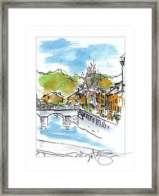 Village In Sw France Framed Print