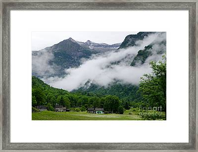 Village In The Alps Framed Print