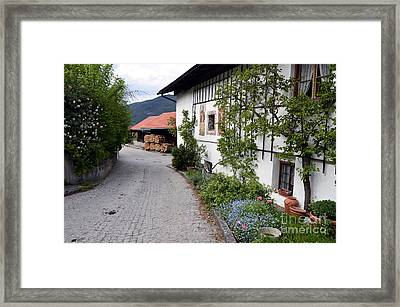 Village In Tyrol Framed Print