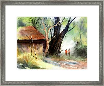 Village Framed Print by Kiran Kumar