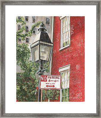 Village Lamplight Framed Print