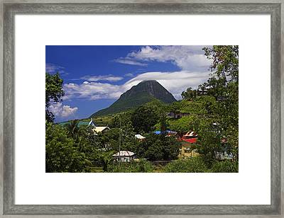 Framed Print featuring the photograph Village Of Choiseul- St Lucia by Chester Williams