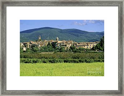 Village Of Lourmarin. Luberon. Vaucluse Framed Print by Bernard Jaubert
