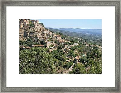 Village On A Hillside Framed Print