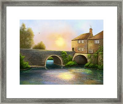 Village On The River Framed Print by Sena Wilson