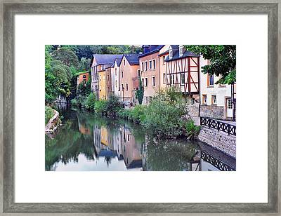 Village Reflections In Luxembourg I Framed Print by Greg Matchick