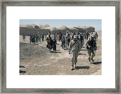 Villagers From Nojoy Outside Kandahar Framed Print by Everett