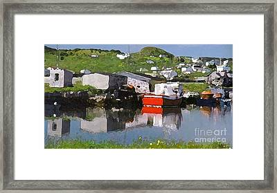 Framed Print featuring the photograph Villiage by Lydia Holly